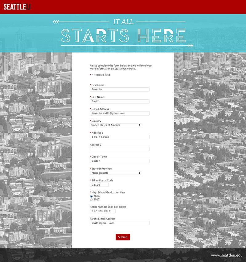 Seattle University Search Creative